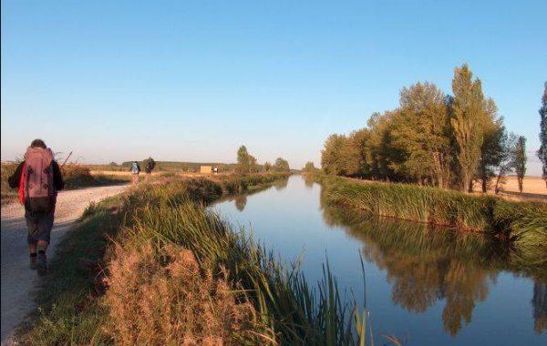 Pilger am Canal de Castilla